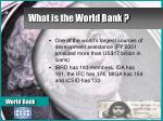 what is the world bank