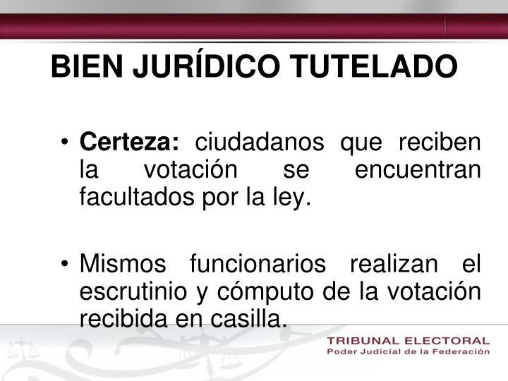 BIEN JURÍDICO TUTELADO