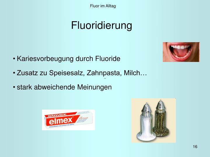 Fluor im Alltag