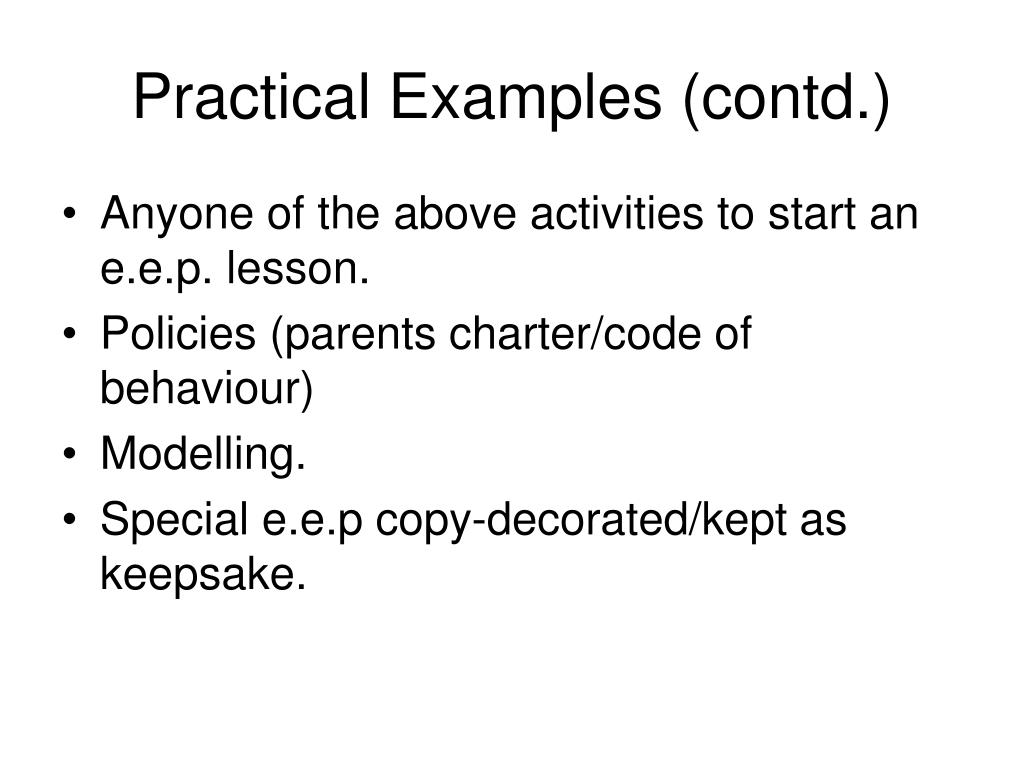 Practical Examples (contd.)