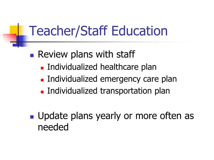 Teacher/Staff Education