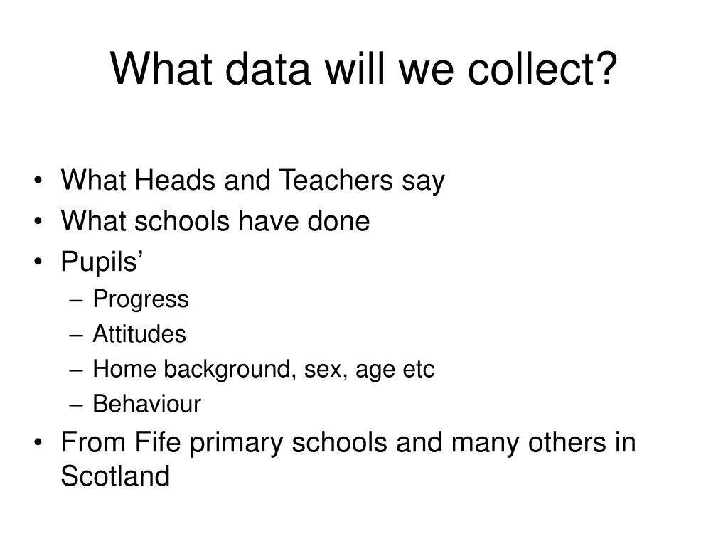 What data will we collect?
