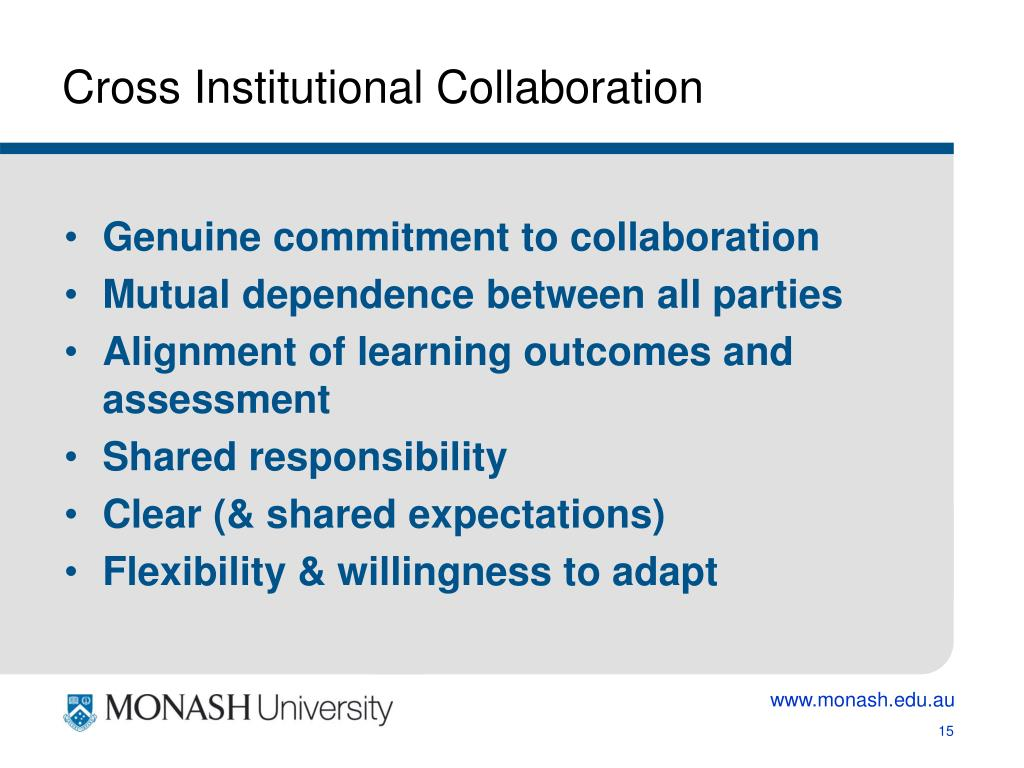 Cross Institutional Collaboration
