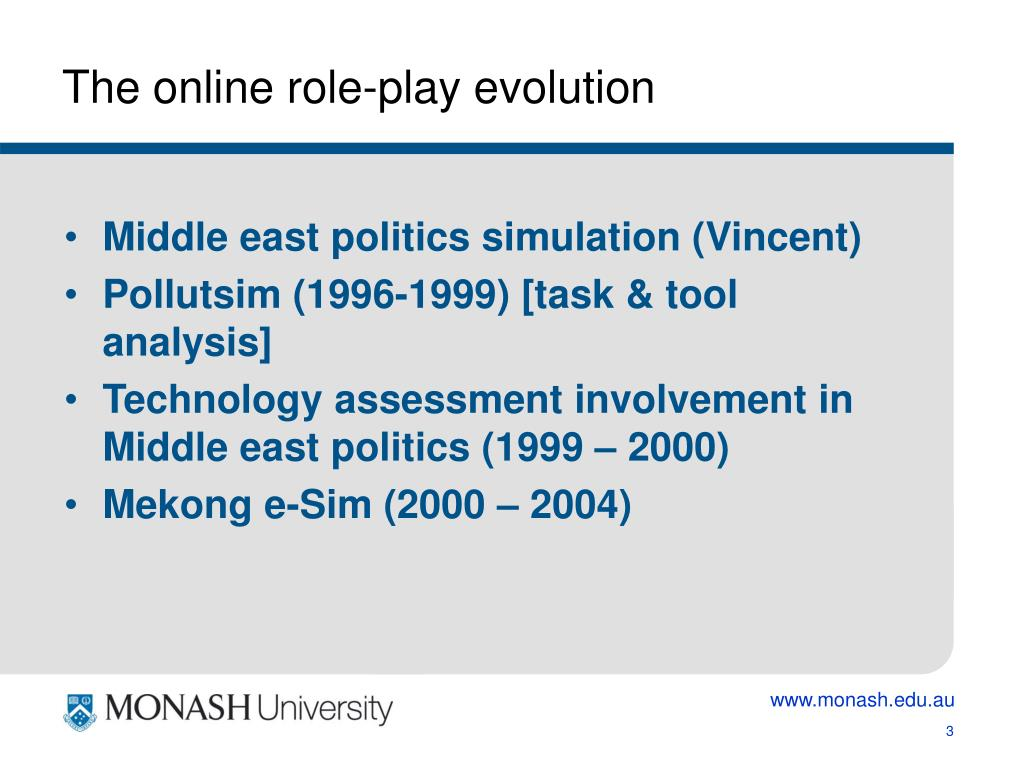 The online role-play evolution