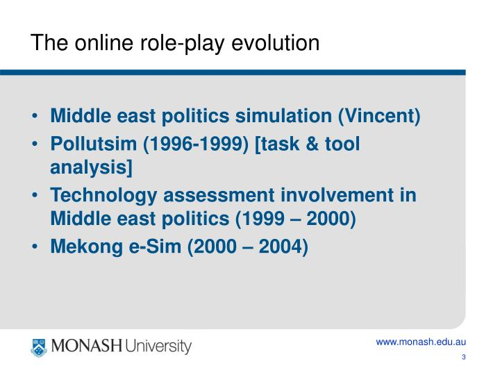 The online role play evolution
