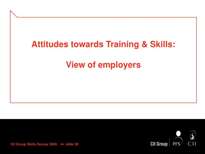 Attitudes towards Training & Skills:
