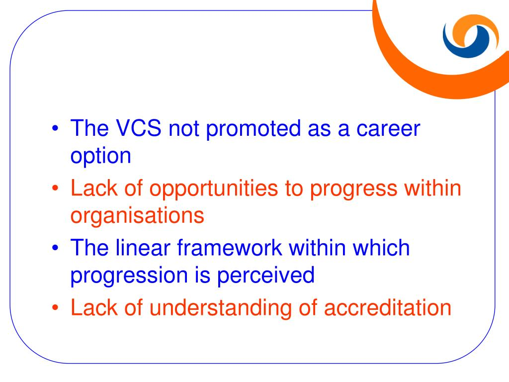 The VCS not promoted as a career option