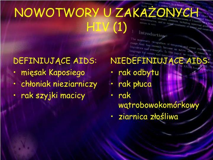 DEFINIUJĄCE AIDS: