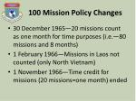 100 mission policy changes1
