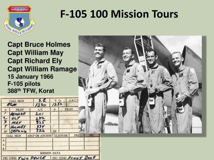 F-105 100 Mission Tours