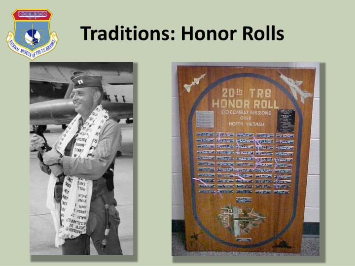Traditions: Honor Rolls