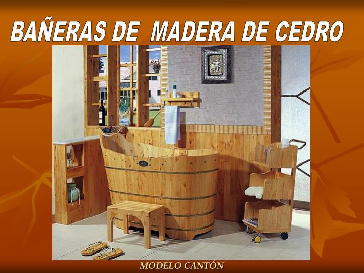 BAÑERAS DE  MADERA DE CEDRO