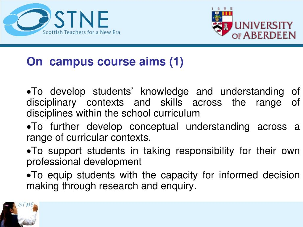 On  campus course aims (1)