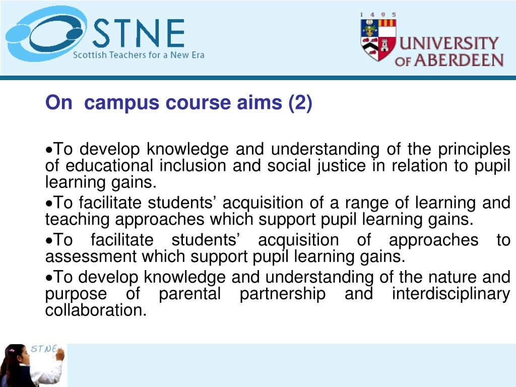 On  campus course aims (2)