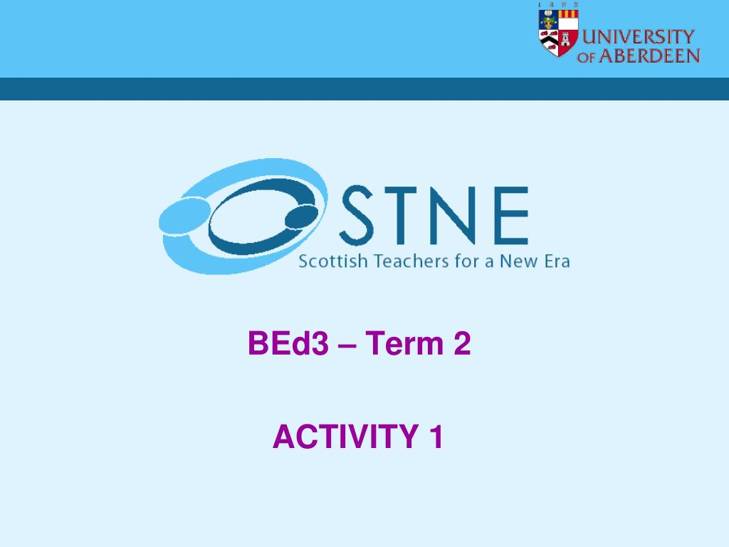 BEd3 – Term 2