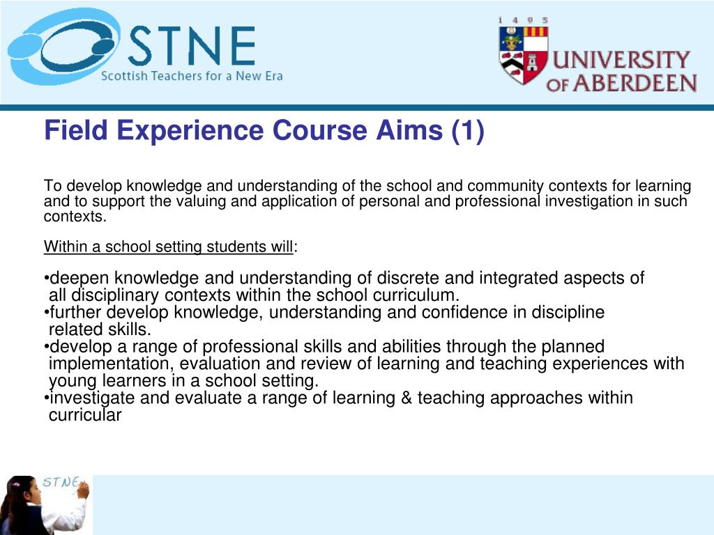 Field Experience Course Aims (1)