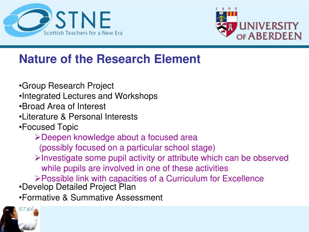 Nature of the Research Element