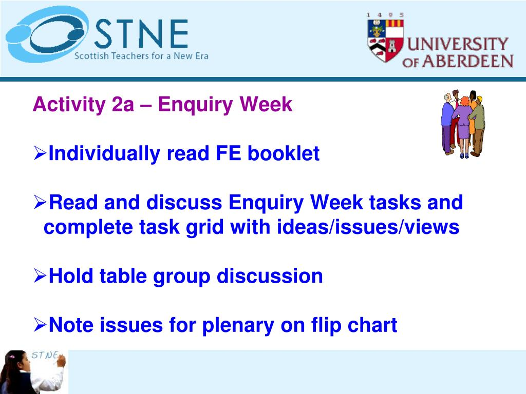 Activity 2a – Enquiry Week