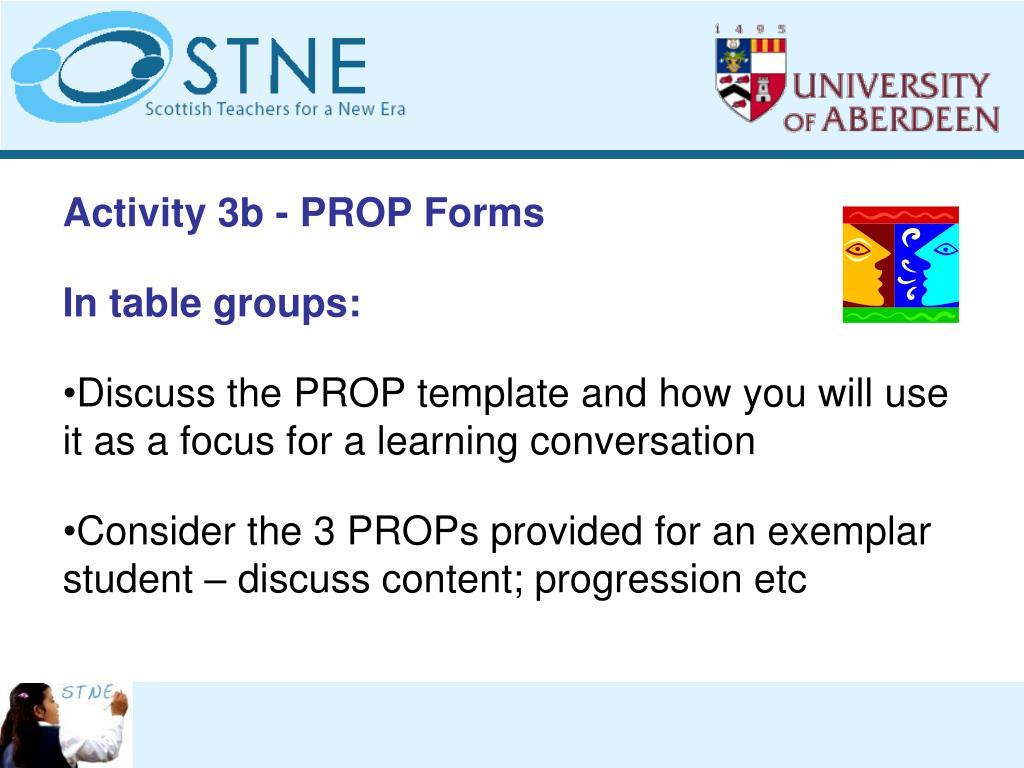 Activity 3b - PROP Forms