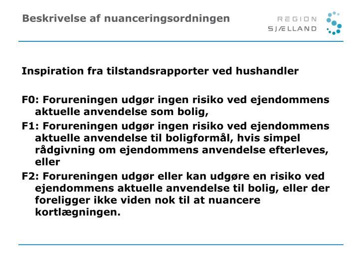 Beskrivelse af nuanceringsordningen