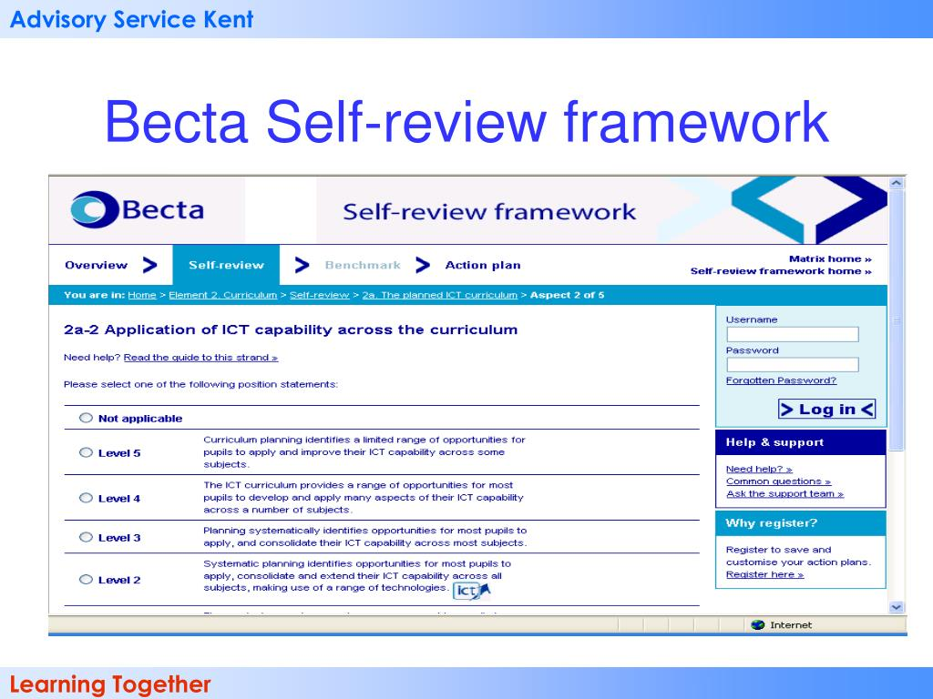 Becta Self-review framework
