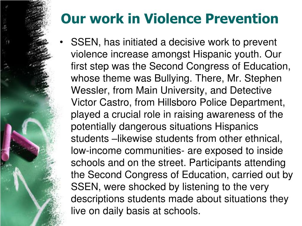 Our work in Violence Prevention