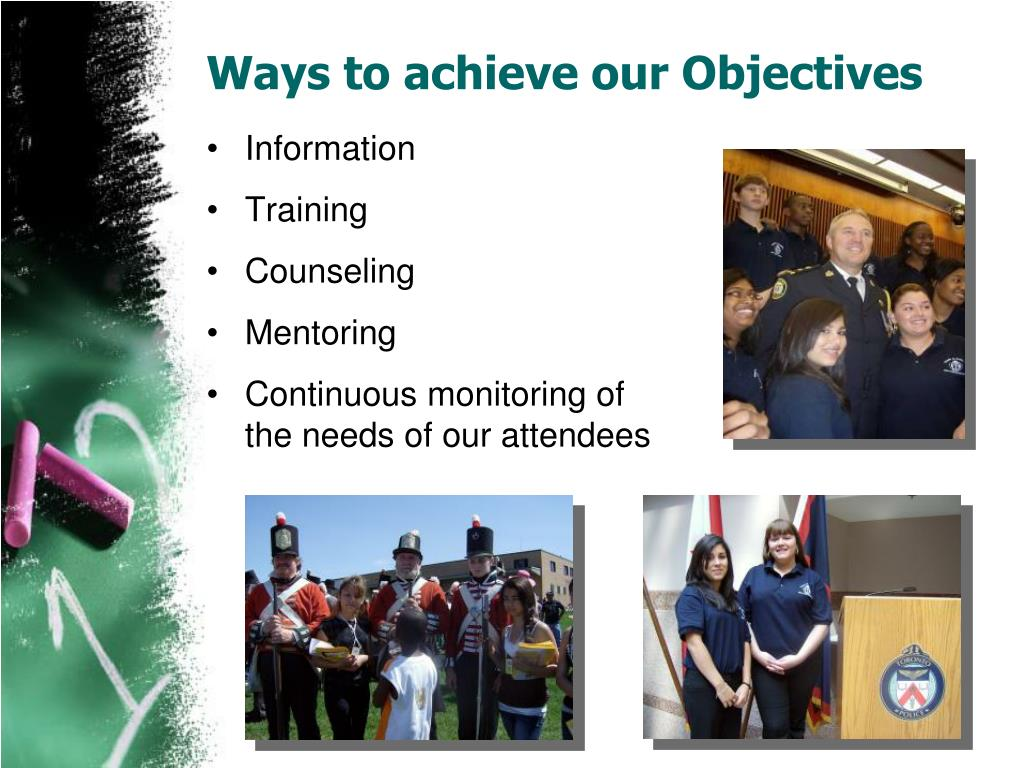 Ways to achieve our Objectives