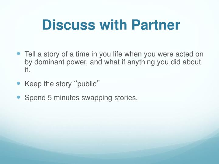 Discuss with Partner
