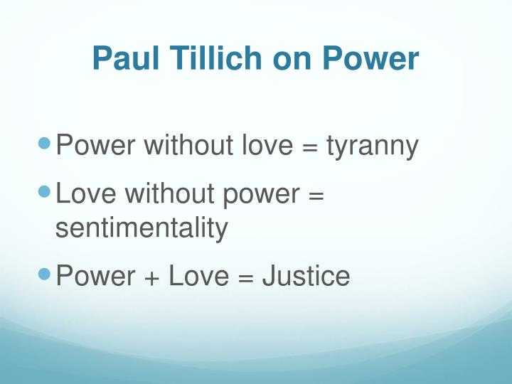 Paul Tillich on Power