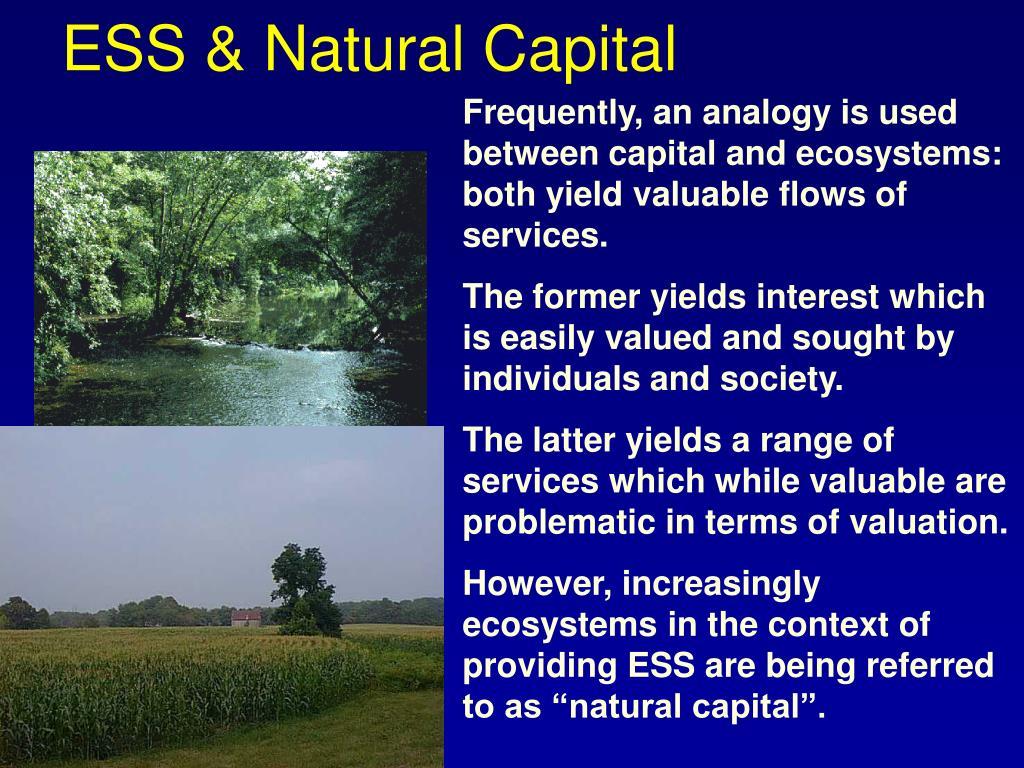 ESS & Natural Capital