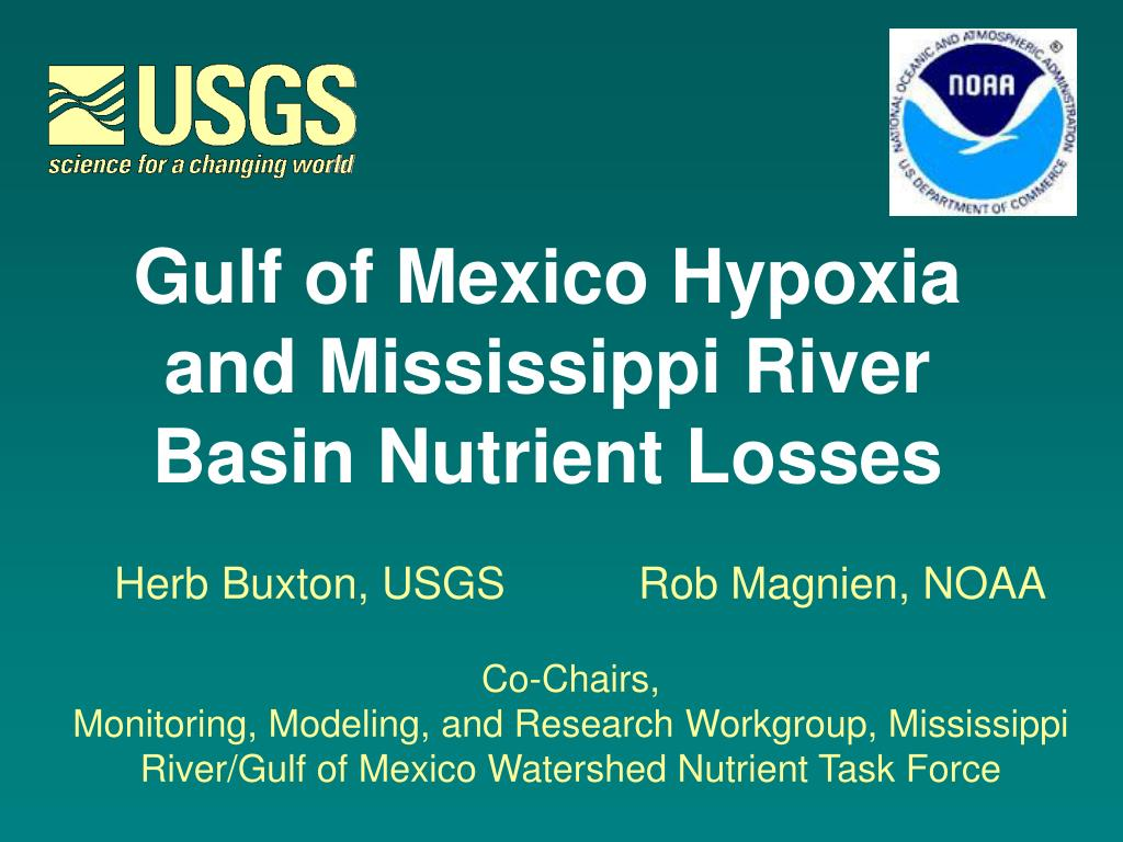 Gulf of Mexico Hypoxia and Mississippi River Basin Nutrient Losses