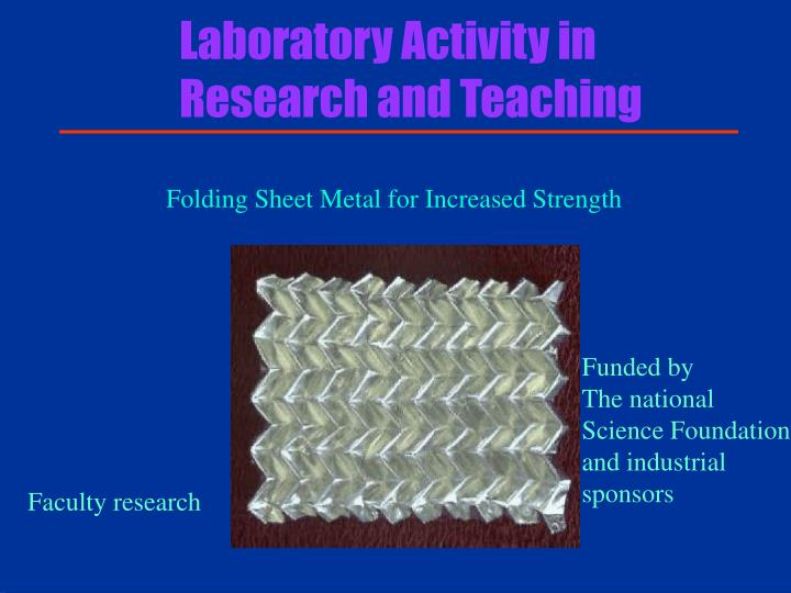 Laboratory Activity in