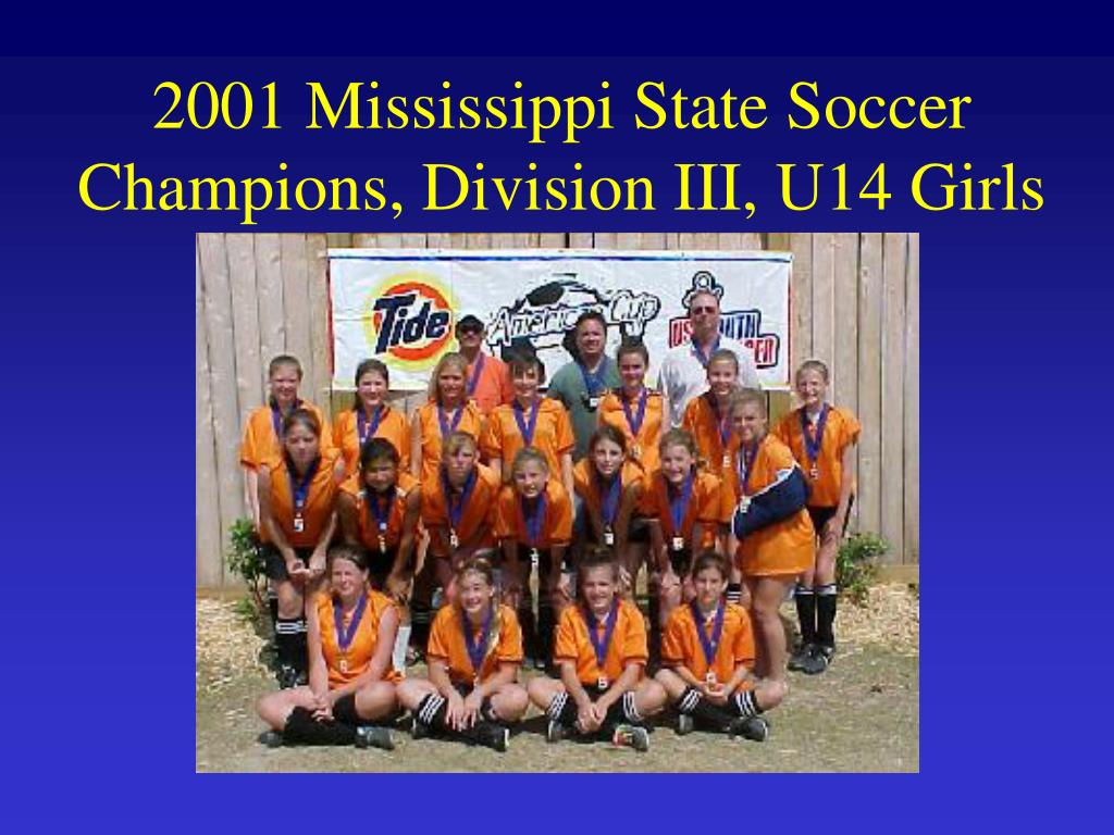 2001 Mississippi State Soccer Champions, Division III, U14 Girls