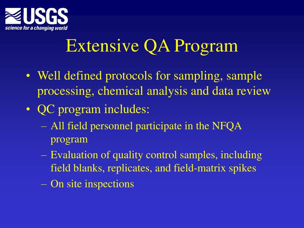 Extensive QA Program