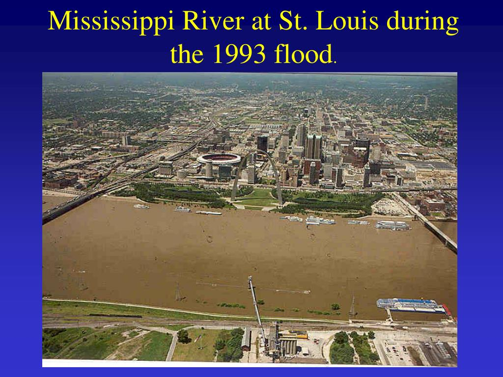 Mississippi River at St. Louis during the 1993 flood