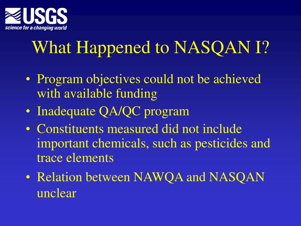 What Happened to NASQAN I?