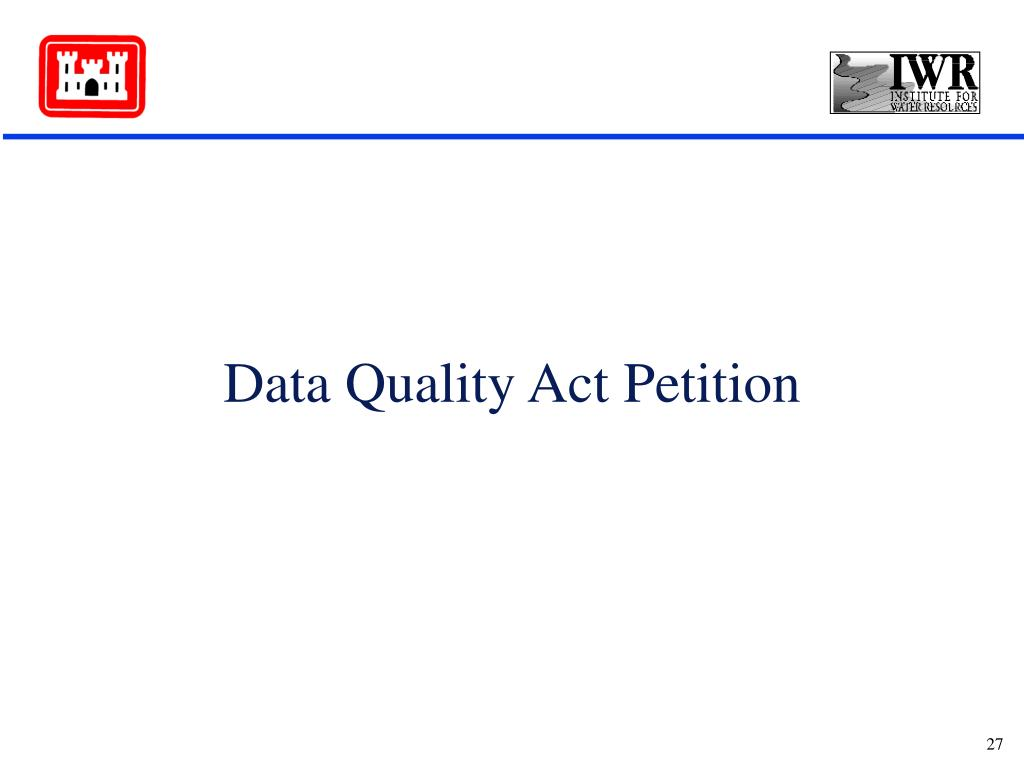Data Quality Act Petition