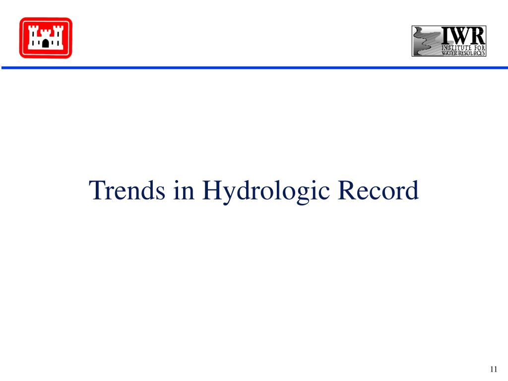 Trends in Hydrologic Record