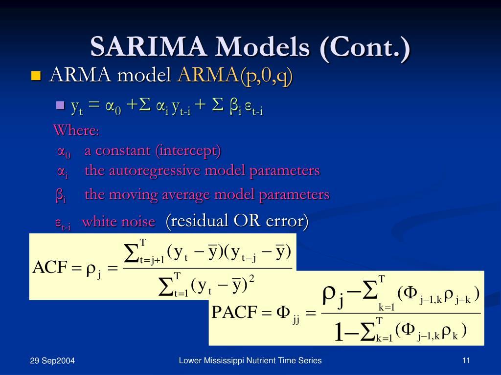 SARIMA Models (Cont.)