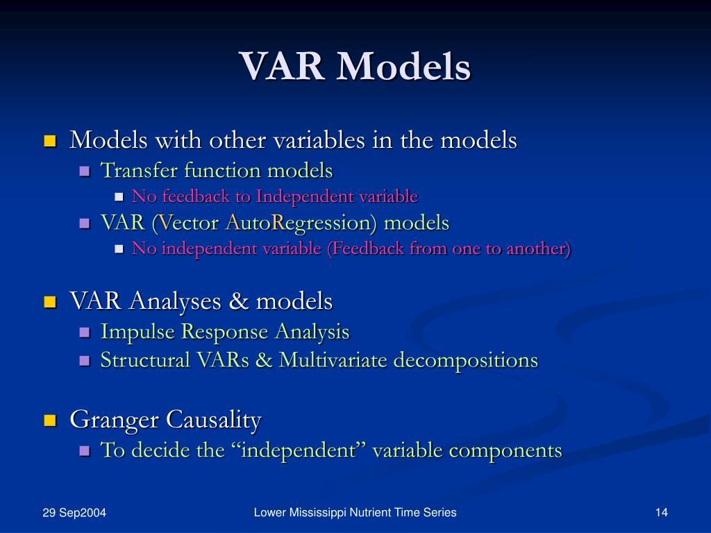 VAR Models