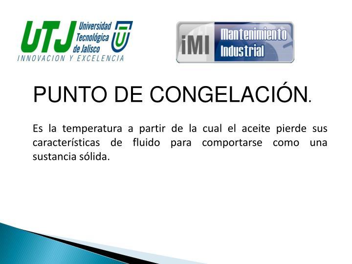PUNTO DE CONGELACIÓN