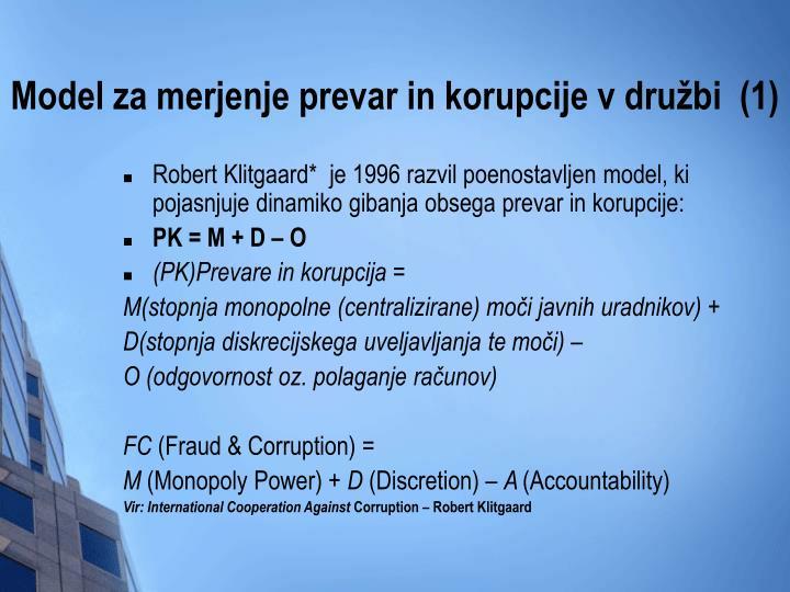Model za merjenje prevar in korupcije v družbi  (1)