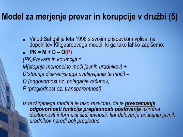 Model za merjenje prevar in korupcije v družbi (5)