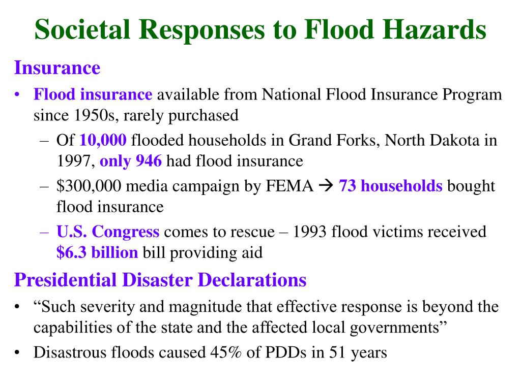 Societal Responses to Flood Hazards