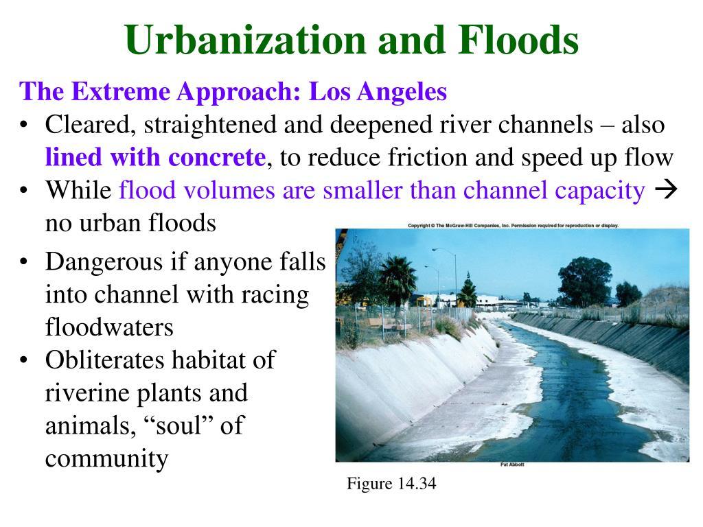 Urbanization and Floods