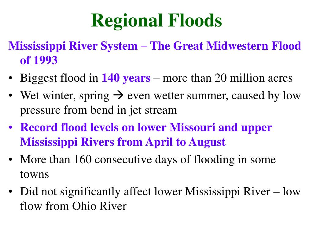 Regional Floods