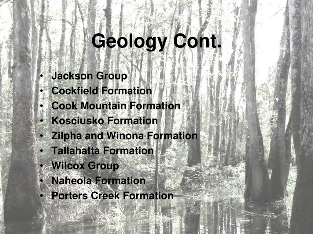 Geology Cont.