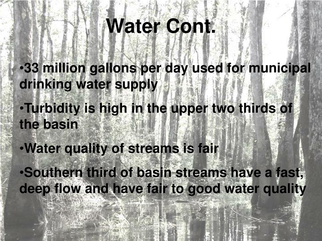 Water Cont.
