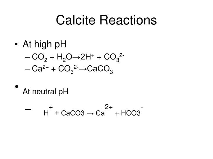 Calcite Reactions