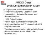 mrgo deep draft de authorization study